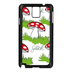 Mushroom Luck Fly Agaric Lucky Guy Samsung Galaxy Note 3 N9005 Case (black) by Nexatart