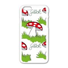 Mushroom Luck Fly Agaric Lucky Guy Apple Iphone 6/6s White Enamel Case by Nexatart
