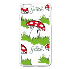 Mushroom Luck Fly Agaric Lucky Guy Apple Iphone 6 Plus/6s Plus Enamel White Case by Nexatart