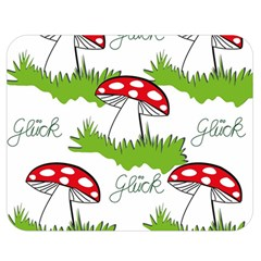 Mushroom Luck Fly Agaric Lucky Guy Double Sided Flano Blanket (medium)