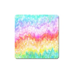 Rainbow Pontilism Background Square Magnet by Nexatart