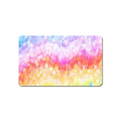 Rainbow Pontilism Background Magnet (name Card) by Nexatart