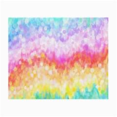 Rainbow Pontilism Background Small Glasses Cloth
