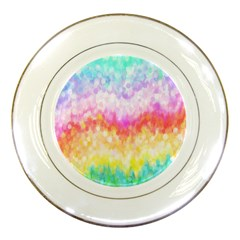 Rainbow Pontilism Background Porcelain Plates by Nexatart