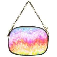 Rainbow Pontilism Background Chain Purses (one Side)  by Nexatart