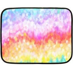 Rainbow Pontilism Background Fleece Blanket (mini) by Nexatart