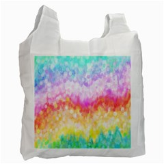 Rainbow Pontilism Background Recycle Bag (two Side)