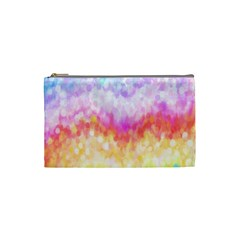 Rainbow Pontilism Background Cosmetic Bag (small)  by Nexatart