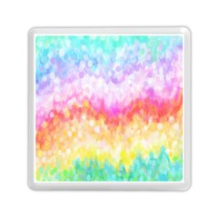 Rainbow Pontilism Background Memory Card Reader (square)  by Nexatart