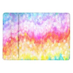 Rainbow Pontilism Background Samsung Galaxy Tab 10 1  P7500 Flip Case