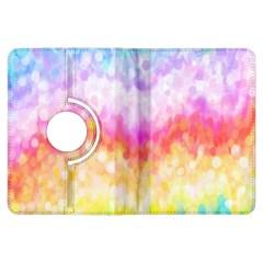 Rainbow Pontilism Background Kindle Fire Hdx Flip 360 Case by Nexatart