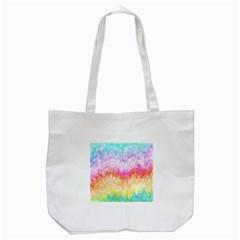 Rainbow Pontilism Background Tote Bag (white) by Nexatart