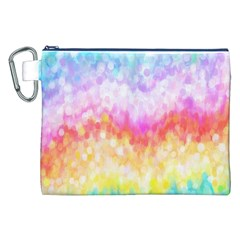 Rainbow Pontilism Background Canvas Cosmetic Bag (xxl) by Nexatart