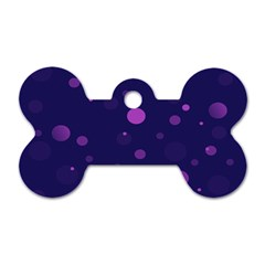 Decorative Dots Pattern Dog Tag Bone (two Sides) by ValentinaDesign