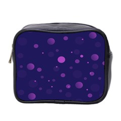 Decorative Dots Pattern Mini Toiletries Bag 2 Side by ValentinaDesign