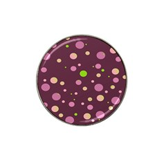 Decorative Dots Pattern Hat Clip Ball Marker by ValentinaDesign