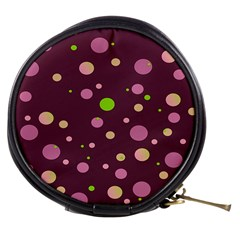 Decorative Dots Pattern Mini Makeup Bags by ValentinaDesign