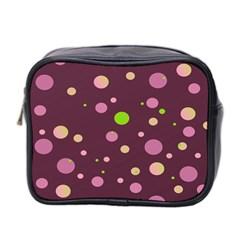 Decorative Dots Pattern Mini Toiletries Bag 2 Side by ValentinaDesign