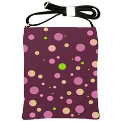 Decorative Dots Pattern Shoulder Sling Bags by ValentinaDesign