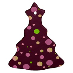 Decorative Dots Pattern Christmas Tree Ornament (two Sides) by ValentinaDesign