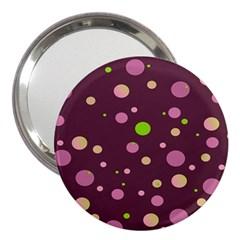 Decorative Dots Pattern 3  Handbag Mirrors by ValentinaDesign
