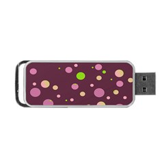 Decorative Dots Pattern Portable Usb Flash (one Side) by ValentinaDesign