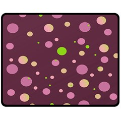 Decorative Dots Pattern Double Sided Fleece Blanket (medium)  by ValentinaDesign