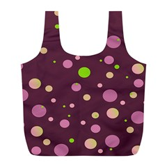Decorative Dots Pattern Full Print Recycle Bags (l)  by ValentinaDesign