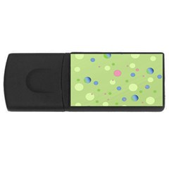 Decorative Dots Pattern Usb Flash Drive Rectangular (4 Gb) by ValentinaDesign