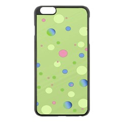 Decorative Dots Pattern Apple Iphone 6 Plus/6s Plus Black Enamel Case by ValentinaDesign