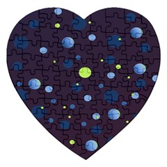 Decorative Dots Pattern Jigsaw Puzzle (heart) by ValentinaDesign