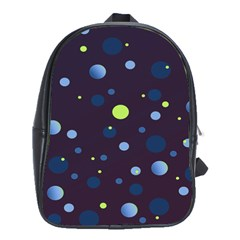 Decorative Dots Pattern School Bags(large)  by ValentinaDesign
