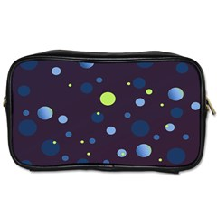 Decorative Dots Pattern Toiletries Bags by ValentinaDesign
