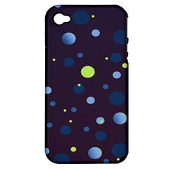 Decorative Dots Pattern Apple Iphone 4/4s Hardshell Case (pc+silicone) by ValentinaDesign