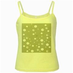 Decorative Dots Pattern Yellow Spaghetti Tank by ValentinaDesign