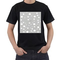 Decorative Dots Pattern Men s T Shirt (black) (two Sided) by ValentinaDesign