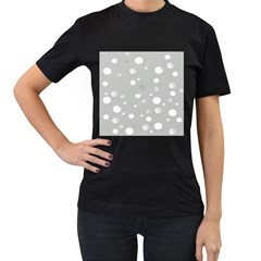 Decorative Dots Pattern Women s T Shirt (black) (two Sided) by ValentinaDesign