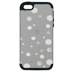 Decorative Dots Pattern Apple Iphone 5 Hardshell Case (pc+silicone) by ValentinaDesign