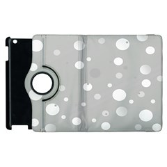 Decorative Dots Pattern Apple Ipad 3/4 Flip 360 Case by ValentinaDesign