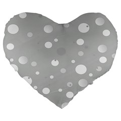 Decorative Dots Pattern Large 19  Premium Heart Shape Cushions by ValentinaDesign