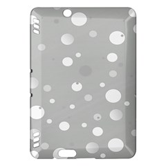 Decorative Dots Pattern Kindle Fire Hdx Hardshell Case by ValentinaDesign