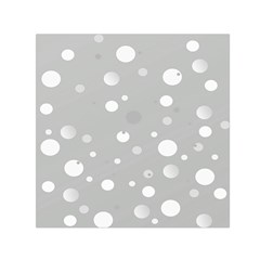 Decorative Dots Pattern Small Satin Scarf (square) by ValentinaDesign
