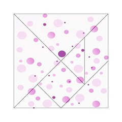 Decorative Dots Pattern Acrylic Tangram Puzzle (6  X 6 ) by ValentinaDesign