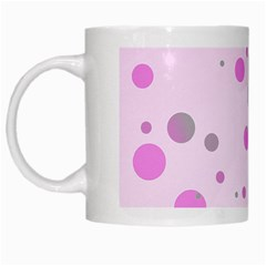 Decorative Dots Pattern White Mugs by ValentinaDesign