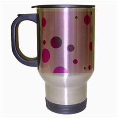 Decorative Dots Pattern Travel Mug (silver Gray) by ValentinaDesign