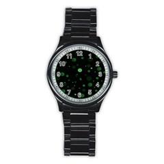 Decorative Dots Pattern Stainless Steel Round Watch by ValentinaDesign