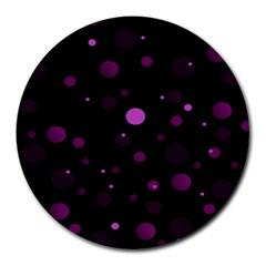 Decorative Dots Pattern Round Mousepads