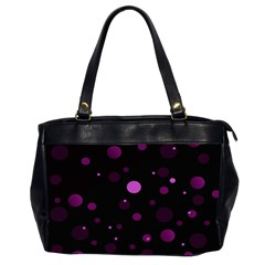 Decorative Dots Pattern Office Handbags (2 Sides)  by ValentinaDesign