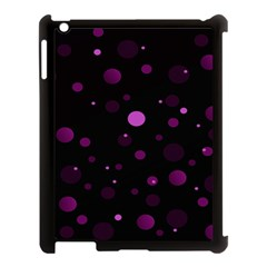 Decorative Dots Pattern Apple Ipad 3/4 Case (black) by ValentinaDesign