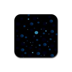 Decorative Dots Pattern Rubber Square Coaster (4 Pack)  by ValentinaDesign